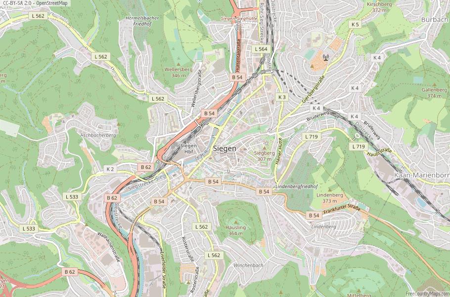 Siegen Germany Map