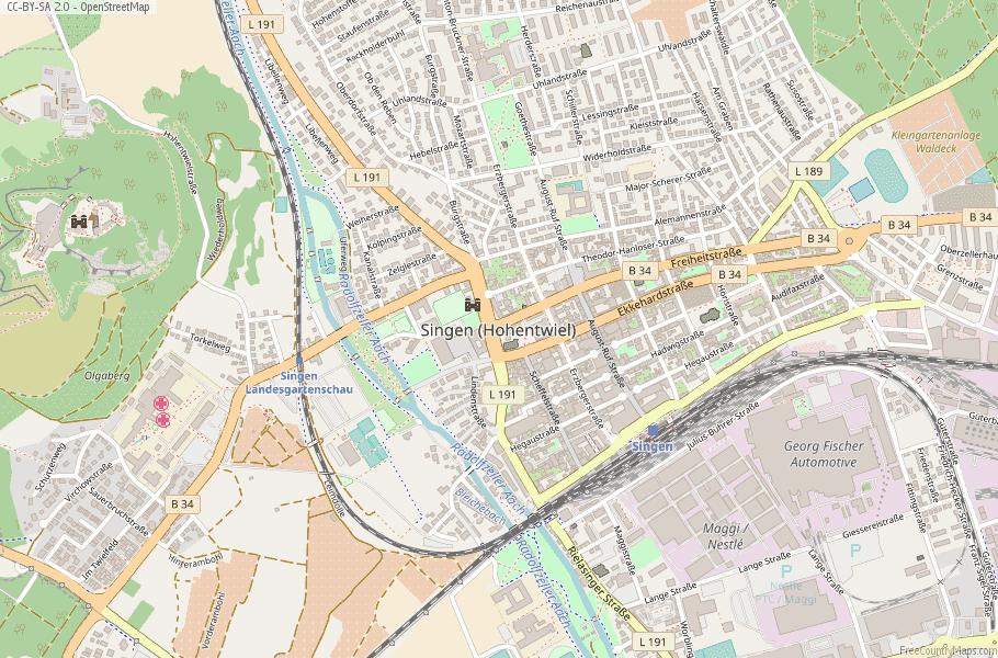 Singen (Hohentwiel) Germany Map