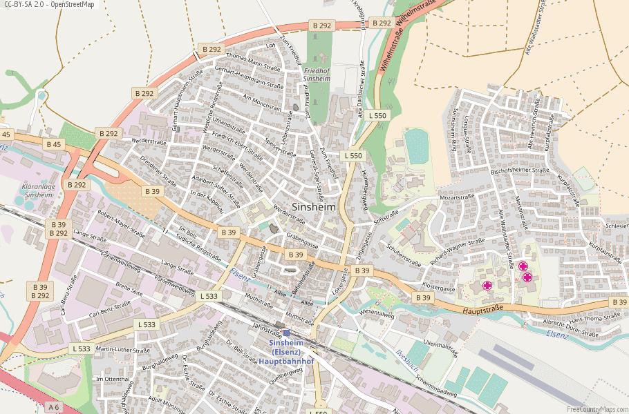 Sinsheim Germany Map