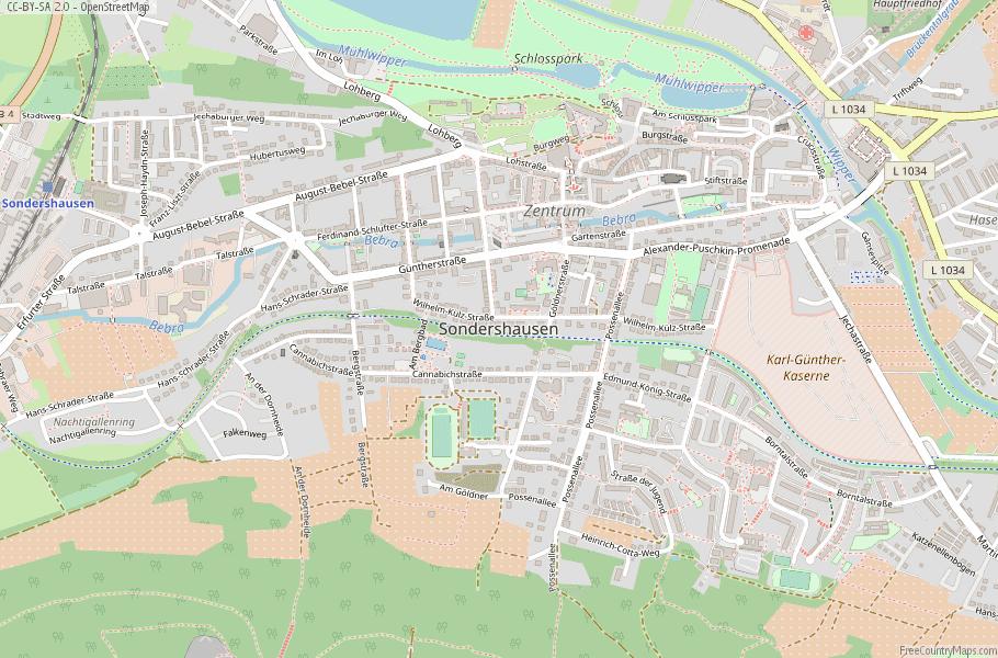 Sondershausen Germany Map
