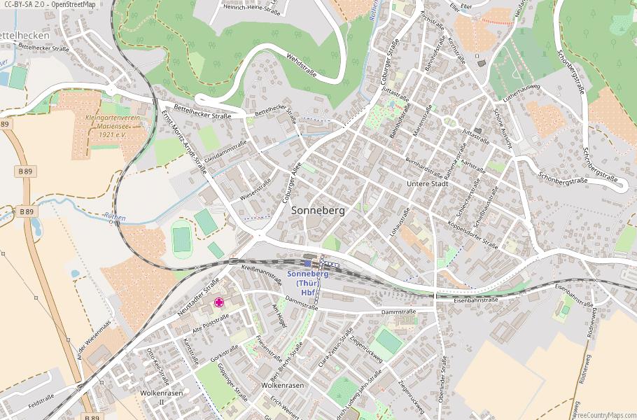 Sonneberg Germany Map