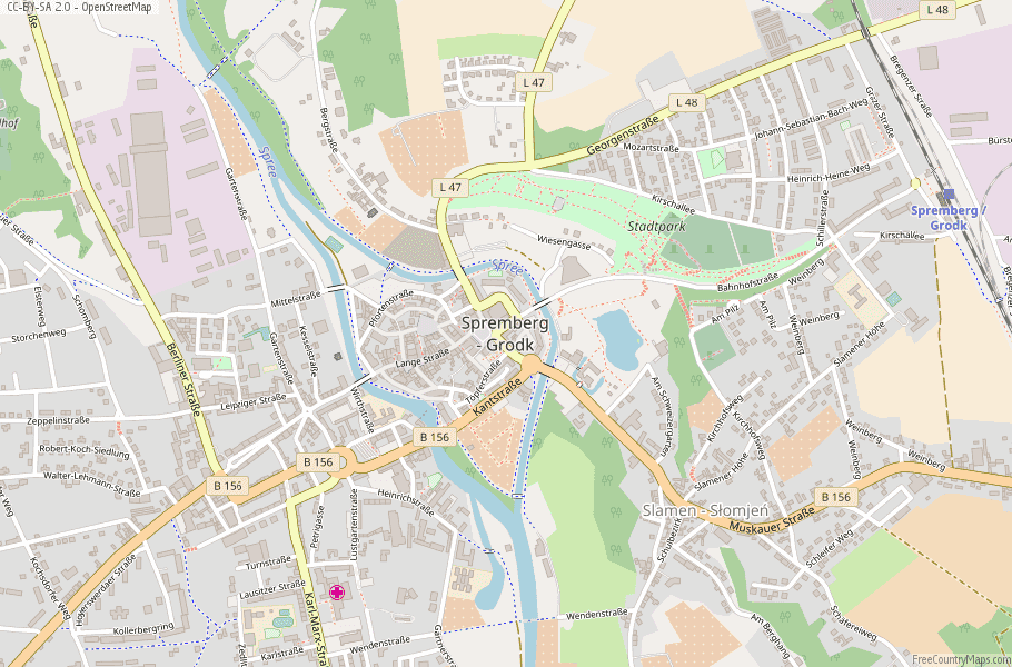 Spremberg Germany Map