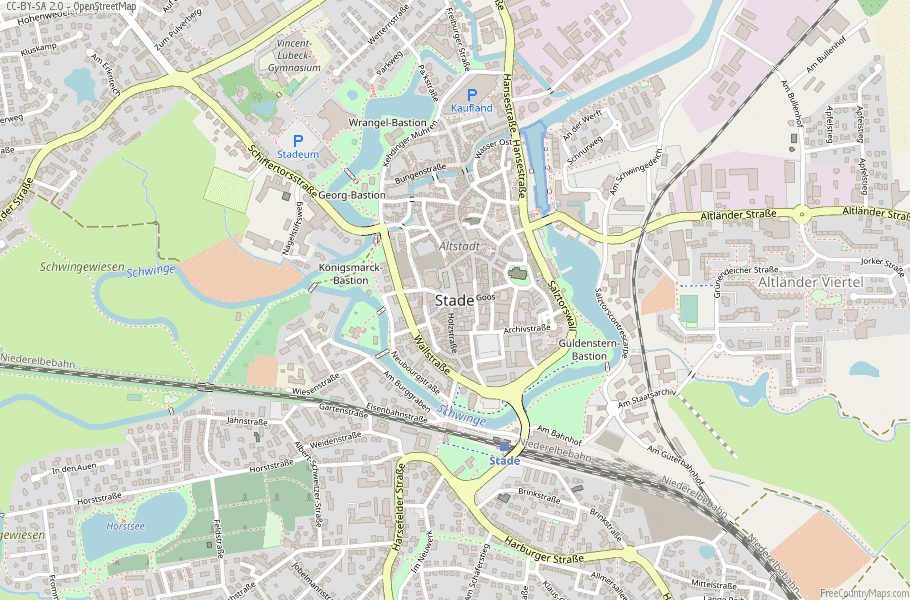 Stade Germany Map