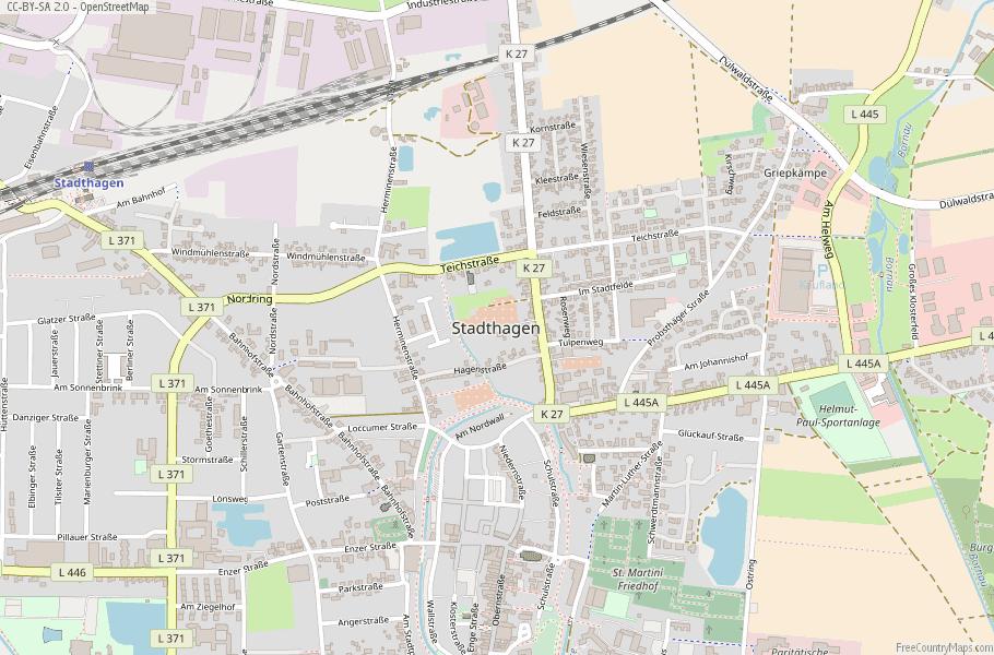 Stadthagen Germany Map