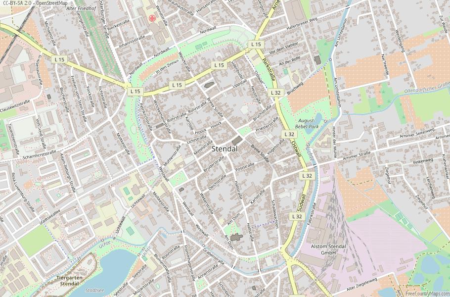 Stendal Germany Map