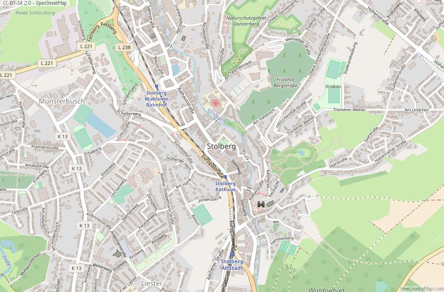 Stolberg Germany Map
