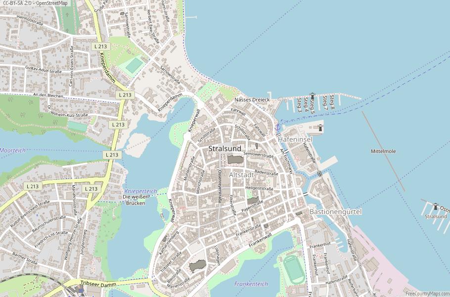 Stralsund Germany Map