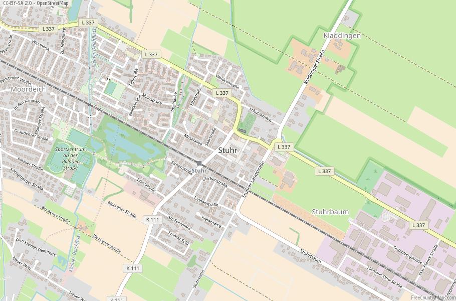 Stuhr Germany Map