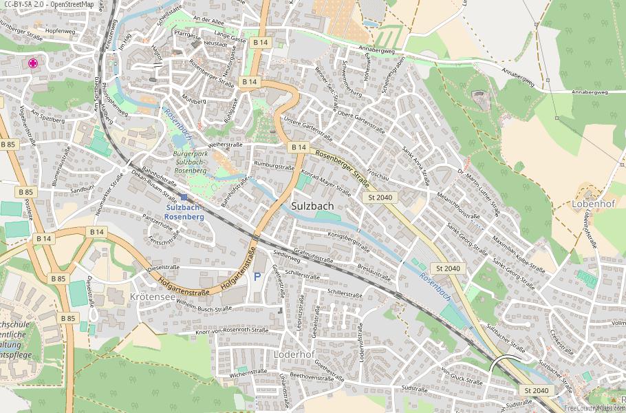 Map Of Zirndorf Germany.Sulzbach Rosenberg Map Germany Latitude Longitude Free Maps