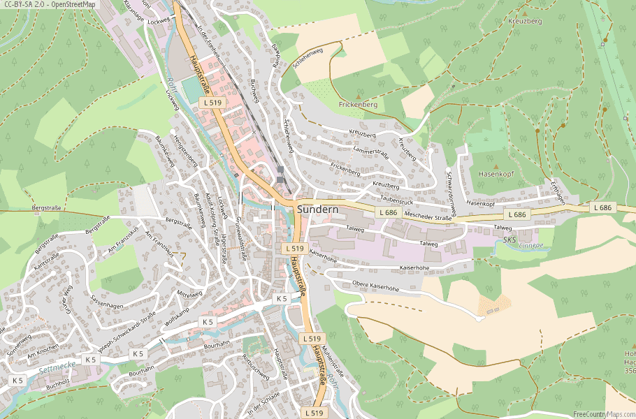 Sundern Germany Map