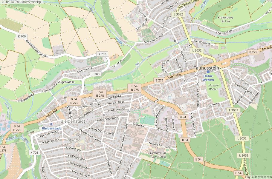 Taunusstein Germany Map