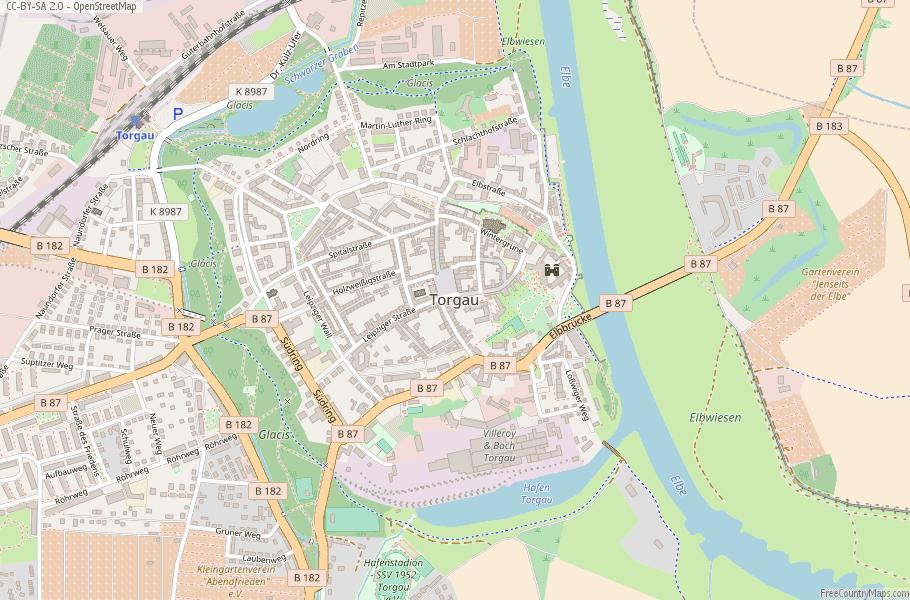 Torgau Germany Map