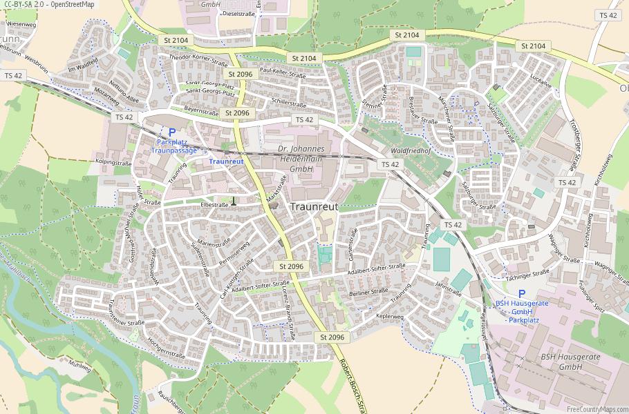 Traunreut Germany Map