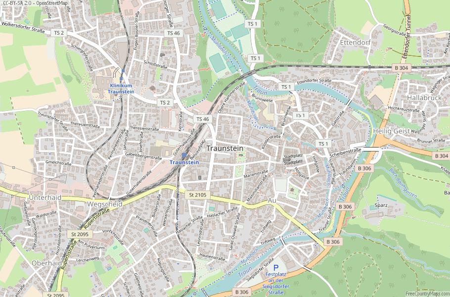 Traunstein Germany Map