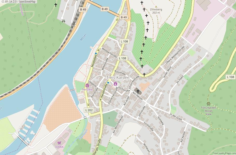 Treis-Karden Germany Map