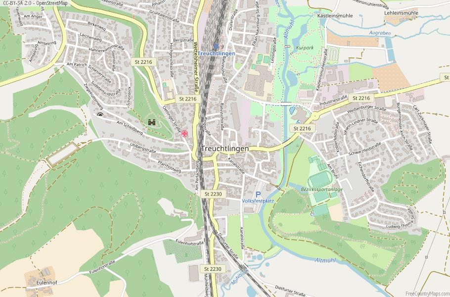 Treuchtlingen Germany Map
