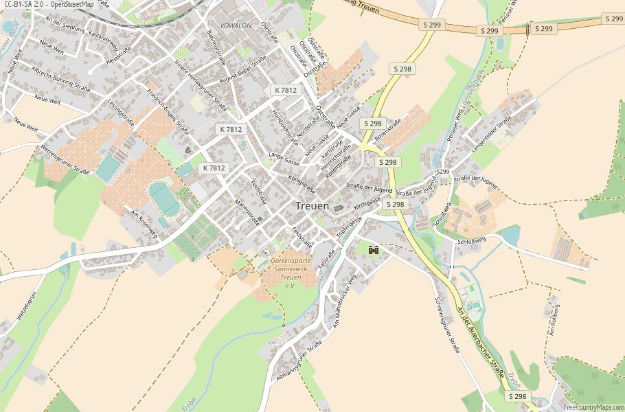 Treuen Germany Map
