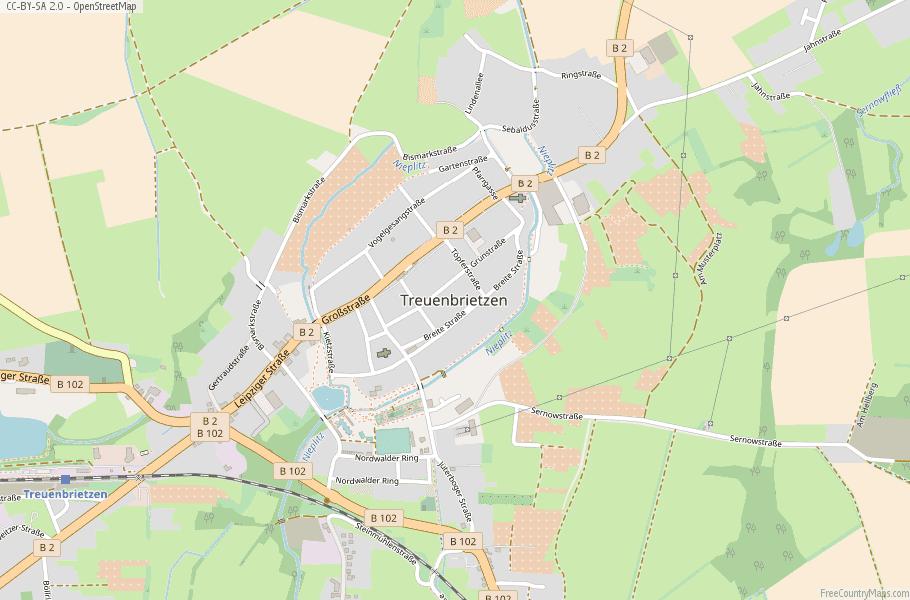 Treuenbrietzen Germany Map