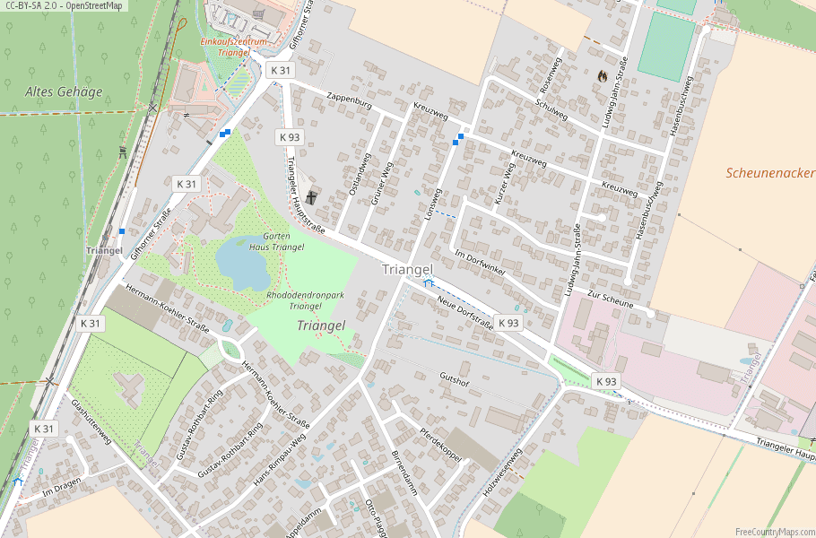 Triangel Germany Map