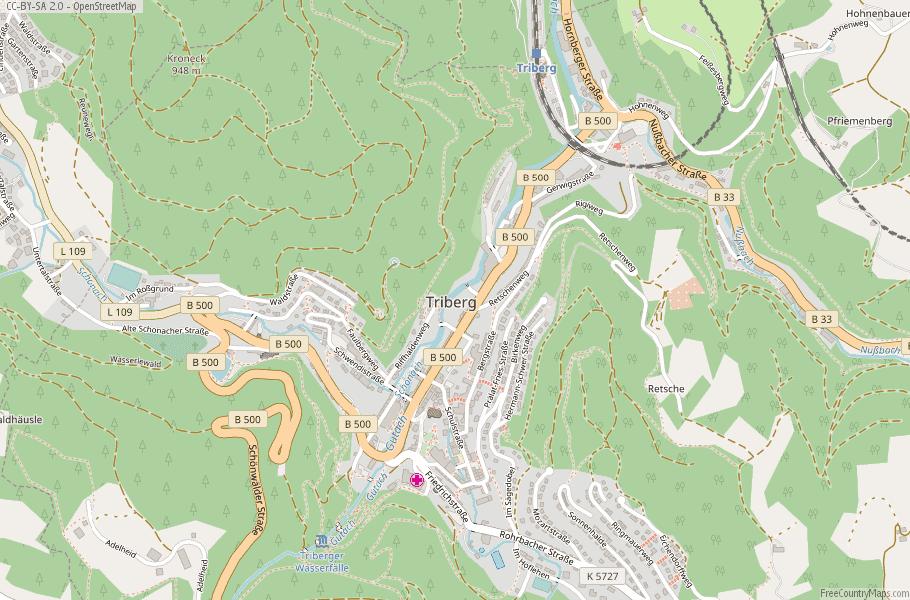 Triberg Germany Map