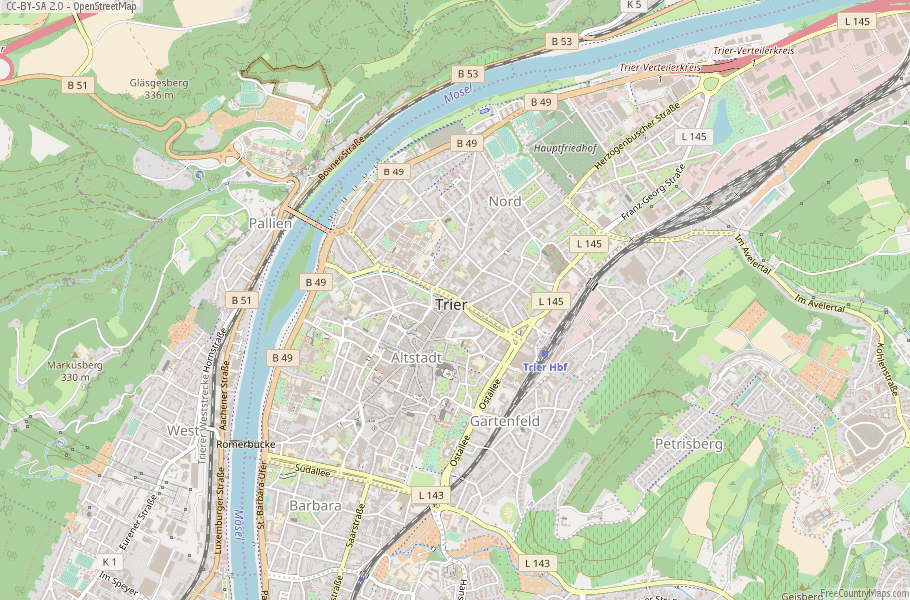Trier Germany Map