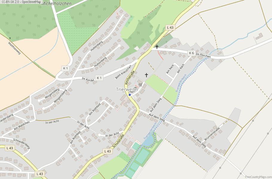 Trierweiler Germany Map