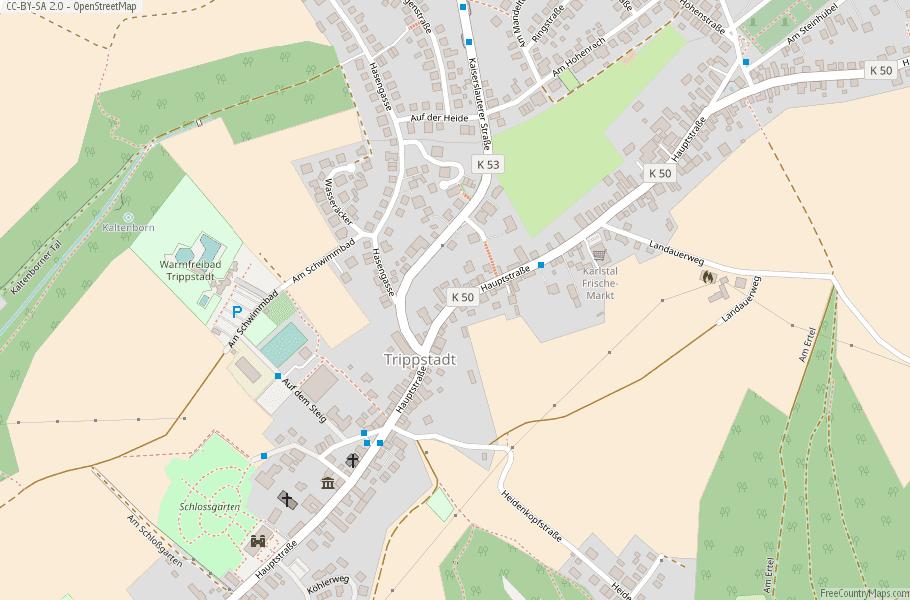 Trippstadt Germany Map