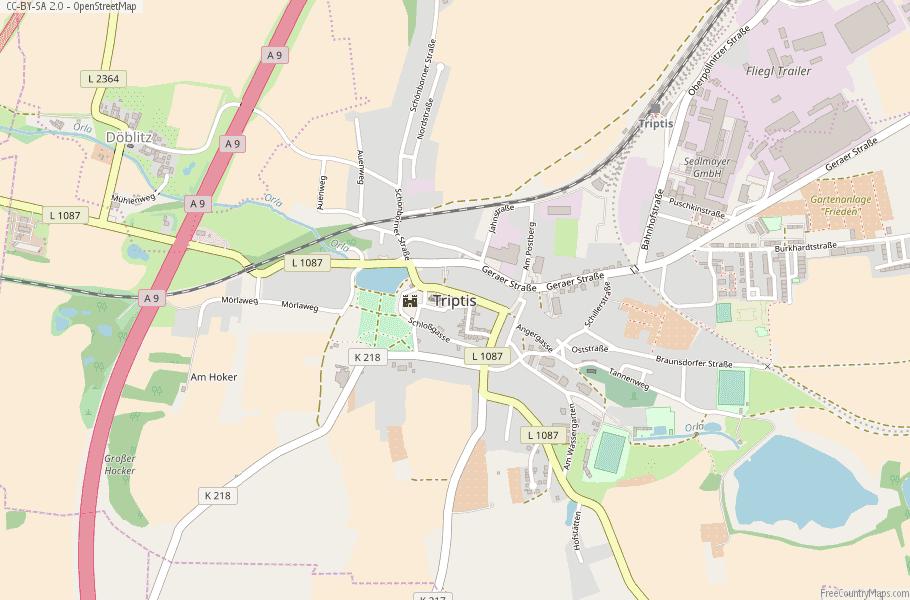 Triptis Germany Map