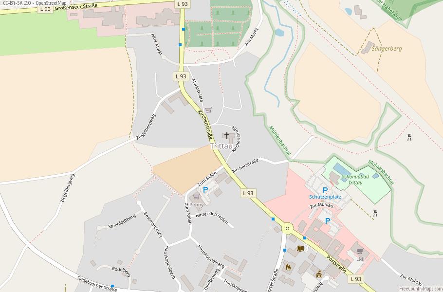 Trittau Germany Map
