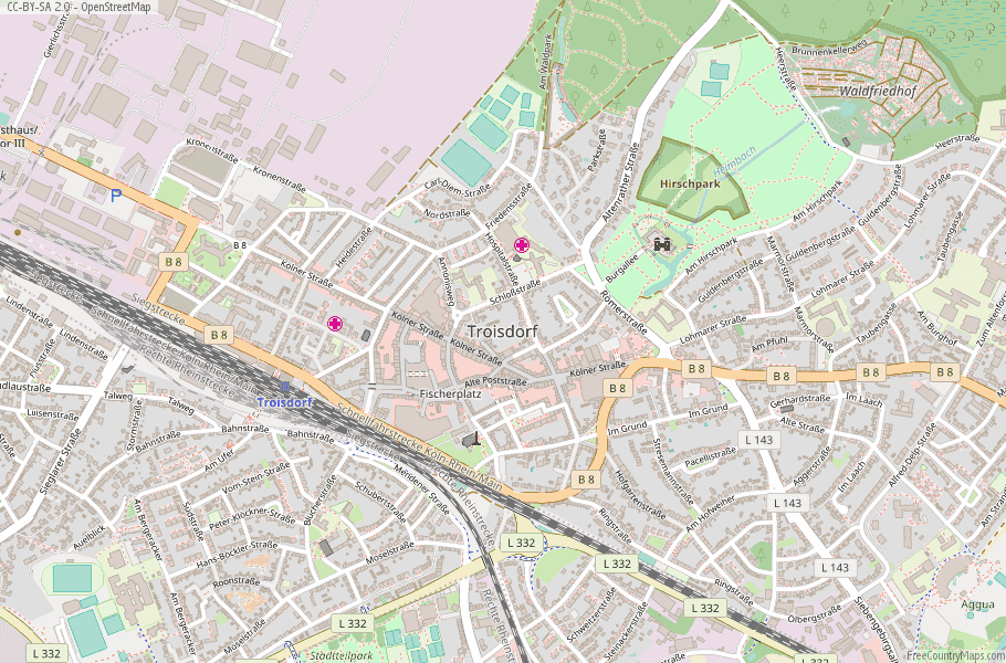 Troisdorf Germany Map