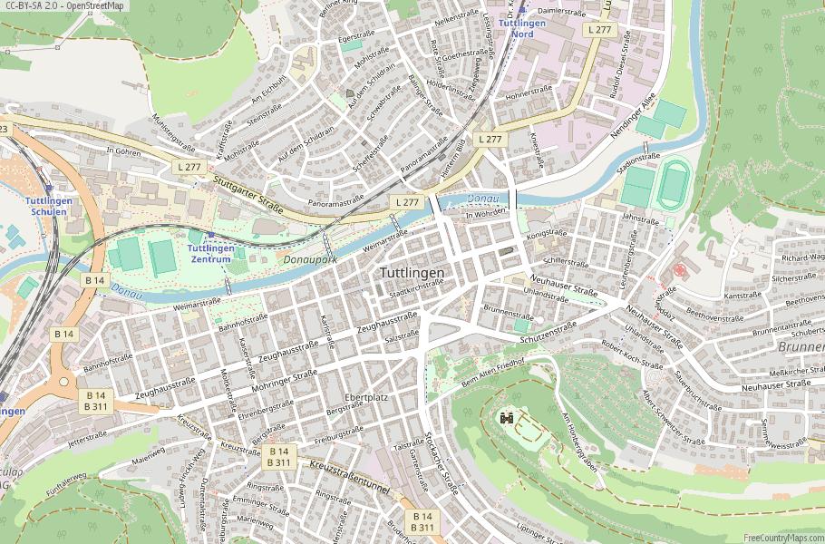 Tuttlingen Map Germany Latitude & Longitude: Free Maps