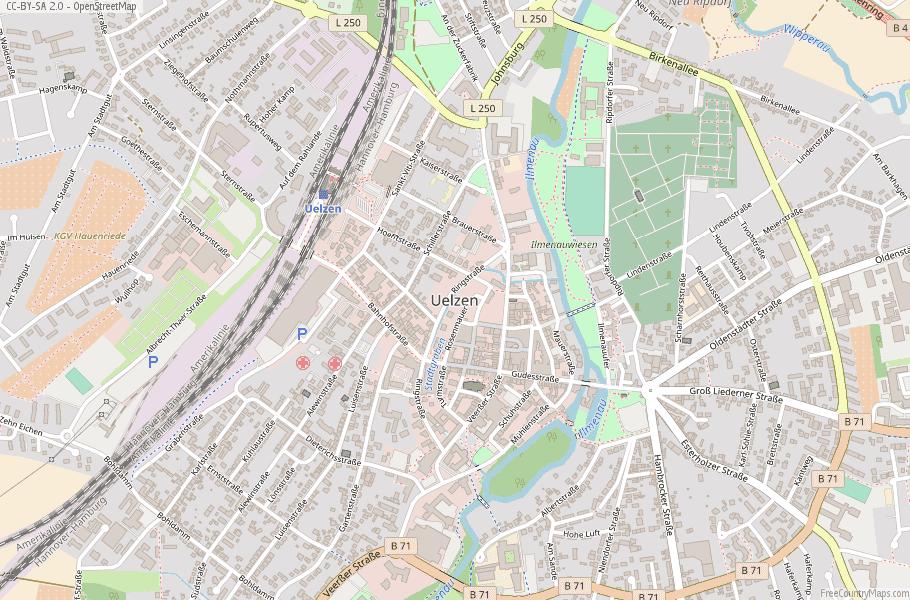 Uelzen Germany Map