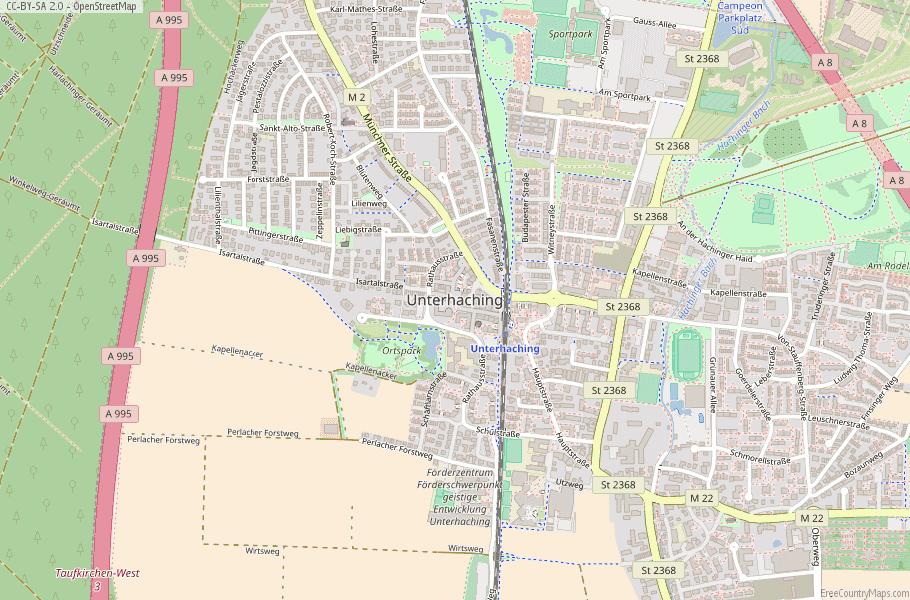 Unterhaching Germany Map