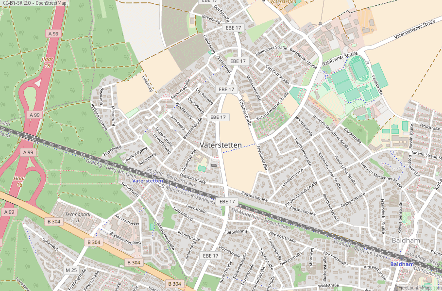 Vaterstetten Germany Map