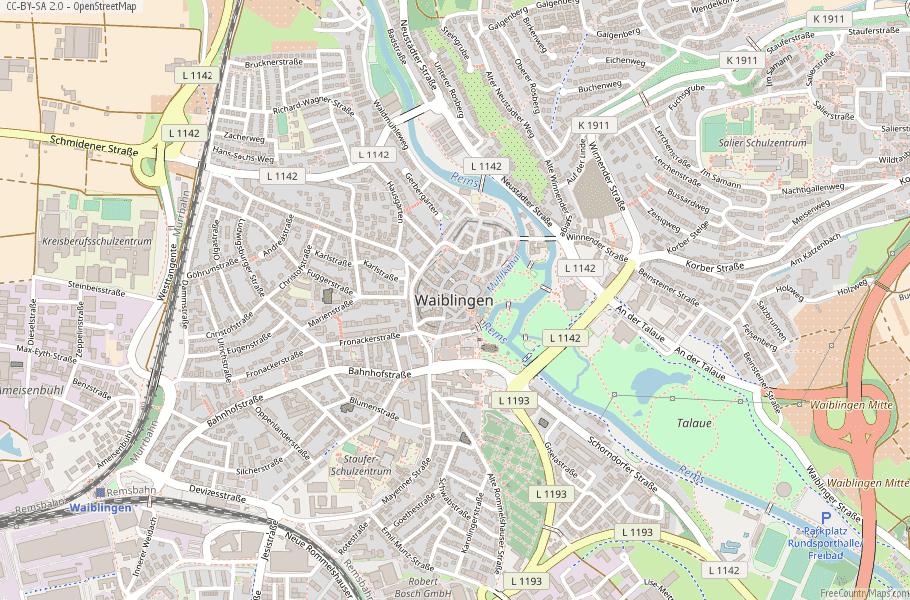 Waiblingen Germany Map