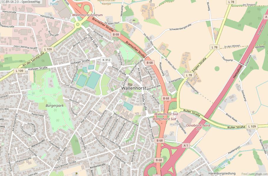 Wallenhorst Germany Map