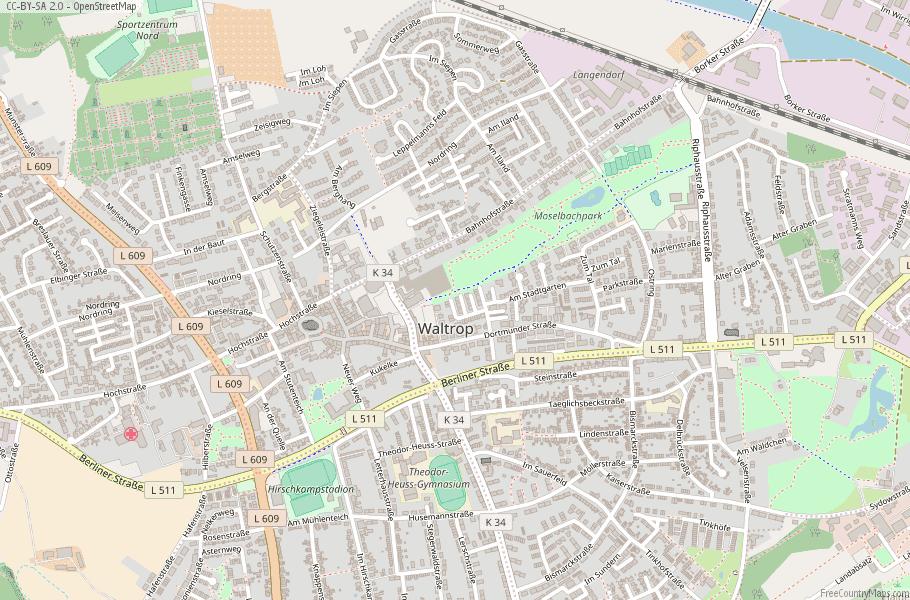 Waltrop Germany Map