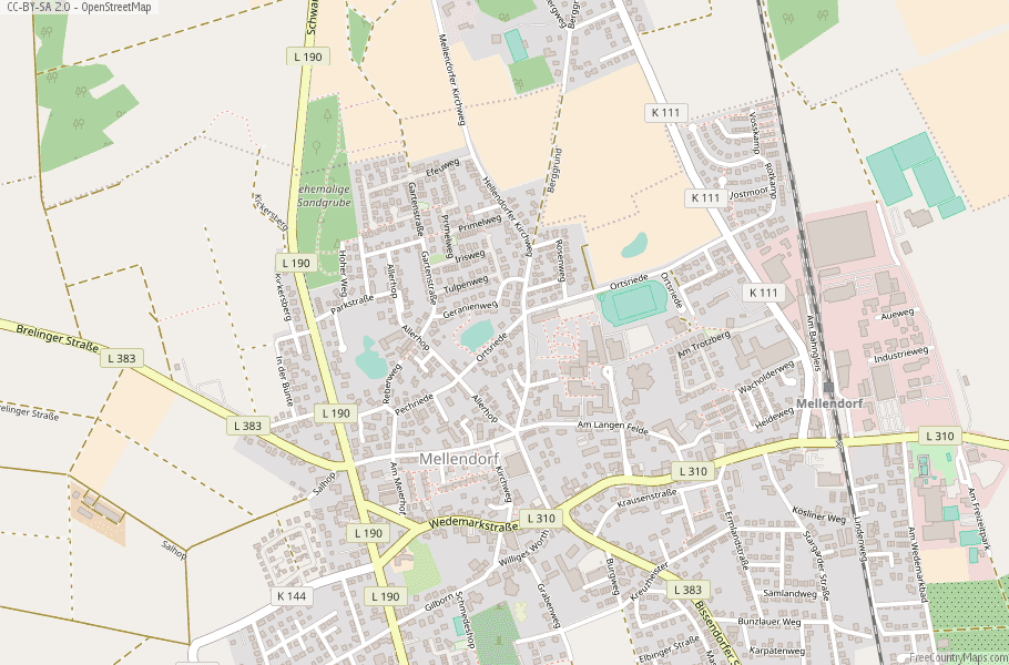 Wedemark Germany Map