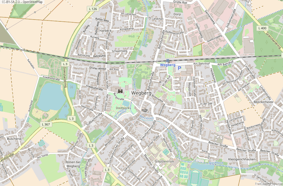 Wegberg Germany Map