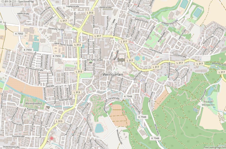 Weingarten Germany Map