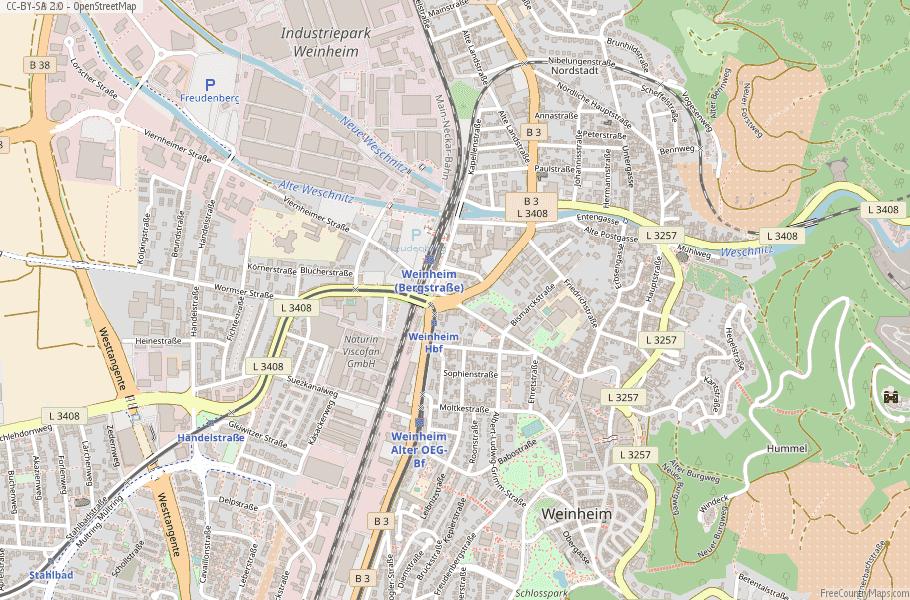 Weinheim Germany Map