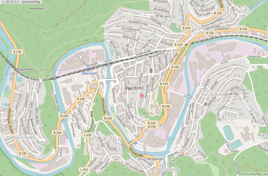 Werdohl Germany Map