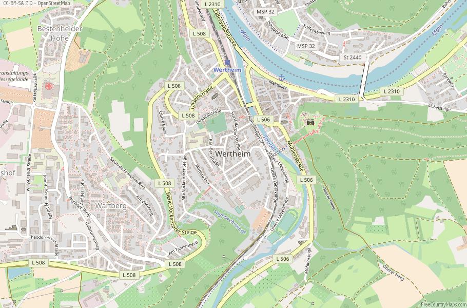 Wertheim Germany Map