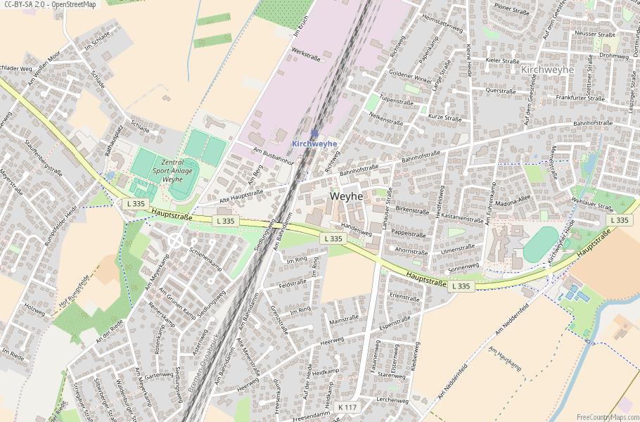 Weyhe Germany Map