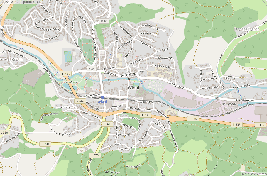open wiehl map