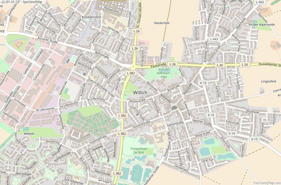 Willich Germany Map