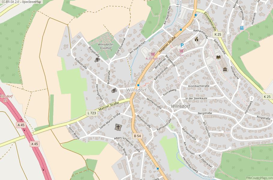 Wilnsdorf Germany Map