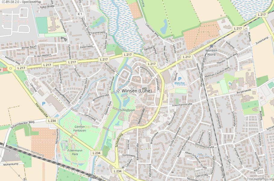 Winsen (Luhe) Germany Map