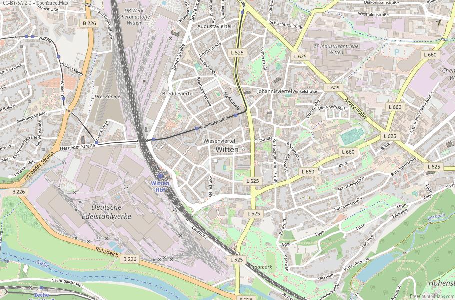 Witten Germany Map