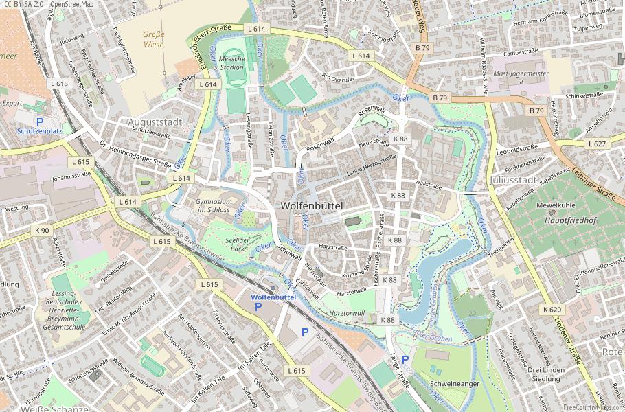 Wolfenbüttel Germany Map